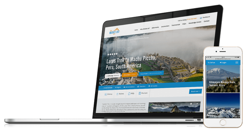 The Bucket List Company | Website Design & Development